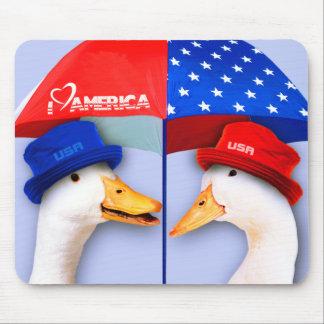 I Love America. Funny Ducks Gift Mousepads