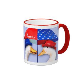 I Love America. Funny Ducks Gift Mug
