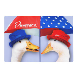 I Love America. Funny Ducks Placemats