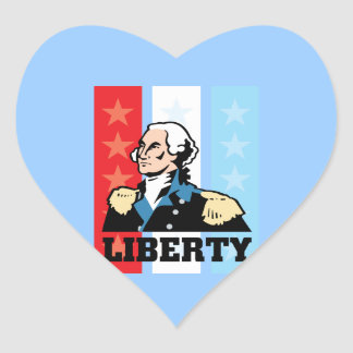 I Love America - George Washington President USA Heart Sticker