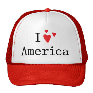 I Love America Trucker Hats
