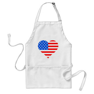 """I Love America"" Heart Flag 4th of July Apron"