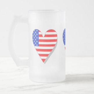 I Love America Heart Flag Mug