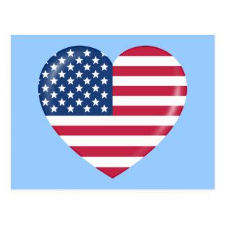 I Love America - Heart of Patriotic American Postcard