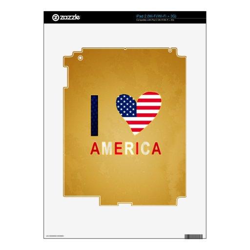 I LOVE AMERICA iPad 2 SKINS