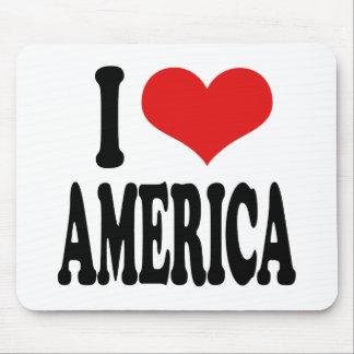 I Love America Mouse Pad