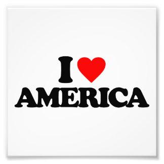 I LOVE AMERICA ART PHOTO