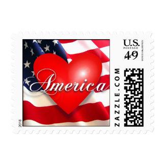 i love america postage stamp