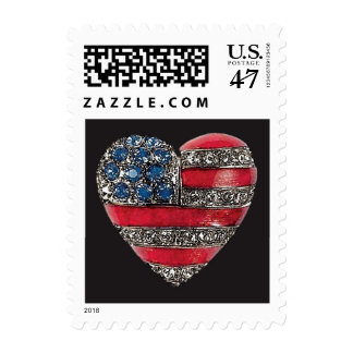 I Love America ~ Postage Stamps