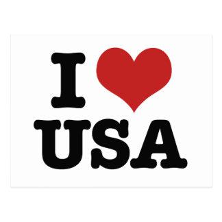 I Love America Postcard