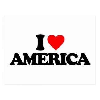 I LOVE AMERICA POST CARD