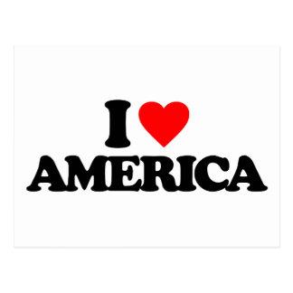 I LOVE AMERICA POST CARDS