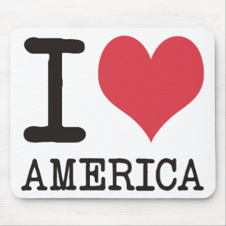 I LOVE AMERICA Products & Designs! Mouse Pad