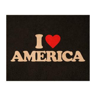 I LOVE AMERICA CORK FABRIC