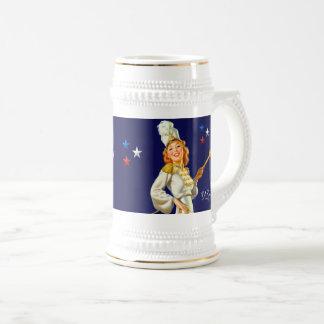 I Love America. Retro Pin-up Design Gift Mug