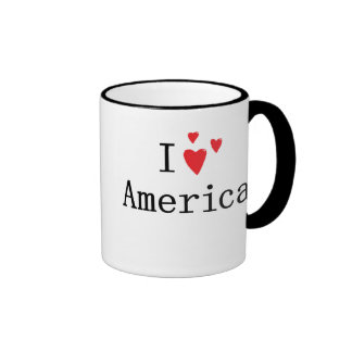 I Love America Ringer Mug