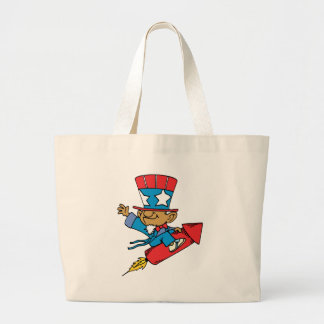 I Love America - Rocket United States Canvas Bags