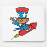 I Love America - Rocket United States Mouse Pad