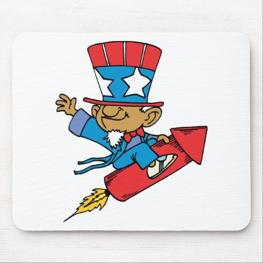 I Love America - Rocket United States Mouse Pad
