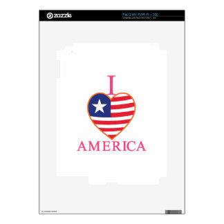 I Love America Skin For The iPad 2