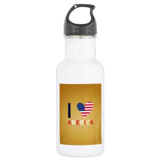 I LOVE AMERICA STAINLESS STEEL WATER BOTTLE