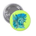 I Love America - Statue Of Liberty New York USA Pinback Buttons