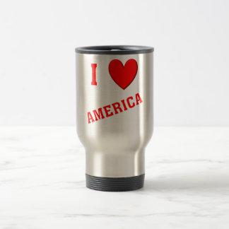I Love America Travel Mug
