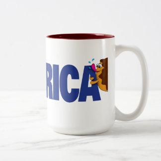 I Love America Two-Tone Coffee Mug