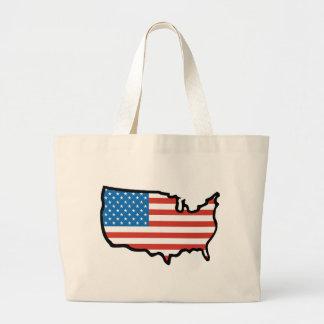I Love America - United States Flag Canvas Bags