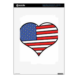 I love America -  United States of America pride iPad 3 Skin