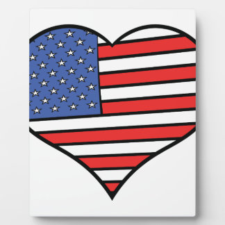 I love America -  United States of America pride Plaque