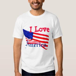 I Love America - USA Patriotic White Tshirt 6