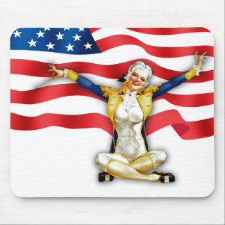 I Love America. Vintage Pin-up Gift Mousepads