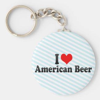 I Love American Beer Keychain