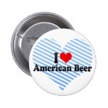 I Love American Beer Pinback Button