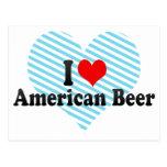 I Love American Beer Postcards