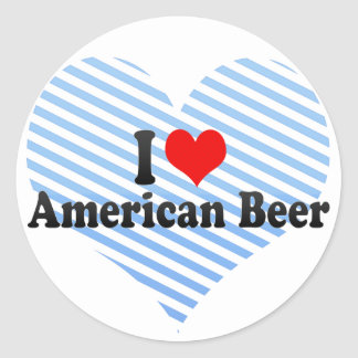 I Love American Beer Stickers