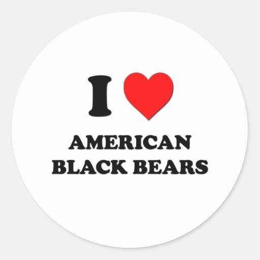 I Love American Black Bears Stickers