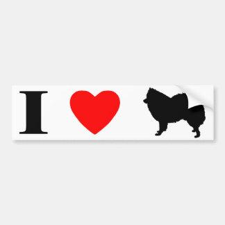 I Love American Eskimo Dogs Bumper Sticker