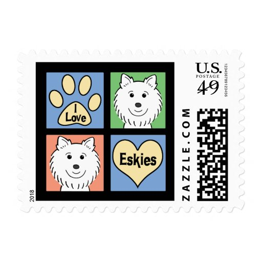 I Love American Eskimos Postage