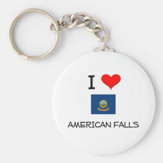 I Love AMERICAN FALLS Idaho Key Chain