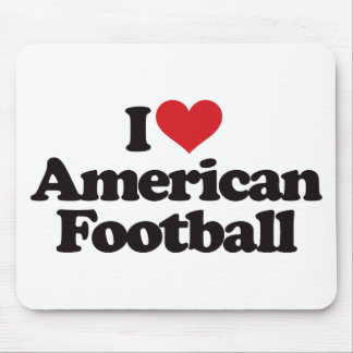 I Love American Football Mouse Pad