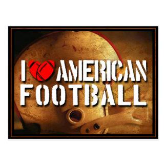 I Love American Football Postcards