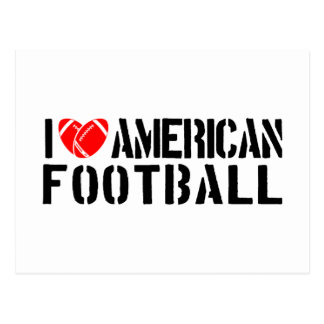 I Love American Football Post Card