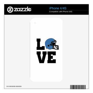 I Love American Football Skin For iPhone 4S