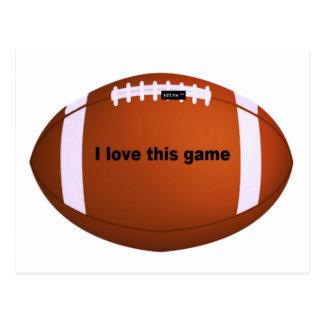 I love American footballs.png Postcard