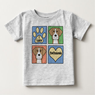 I Love American Foxhounds Baby T-Shirt