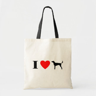 I Love American Foxhounds Tote Bags