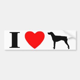 I Love American Foxhounds Bumper Sticker Car Bumper Sticker
