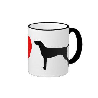I Love American Foxhounds Coffee Mug